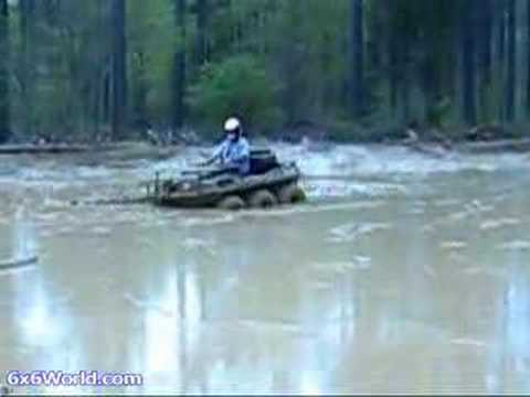 Amphibious ATV trails & mud bog at Carolina Adventure World Video