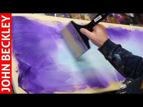 Abstract Painting EASY With Masking Tape   Borée
