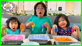 Easy Science experiment for Kids with DIY Frozen Baking Soda and Vinegar!!!