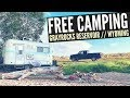 FREE CAMPING at Grayrocks Reservoir in Wheatland, WY 🚐🇺🇸 RV Living, Van Camping & Boondocking