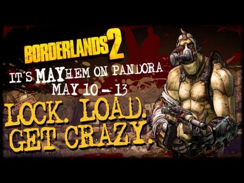 Borderlands 2 Krieg Gear Up Weekend! Gearbox Ups Drop Rates On Bandit Weapons! May 10th - 13th!