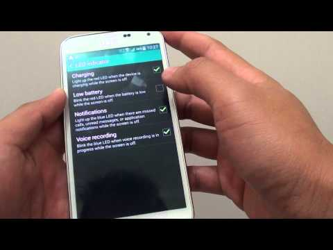 Samsung Galaxy S5: How to Enable/Disable Blue LED Notification Light
