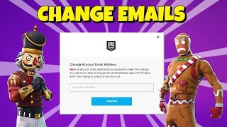 How to CHANGE EMAIL on Epic Games *OFFICIAL*