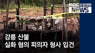 R)강릉 산불 실화 피의자 형사 입건
