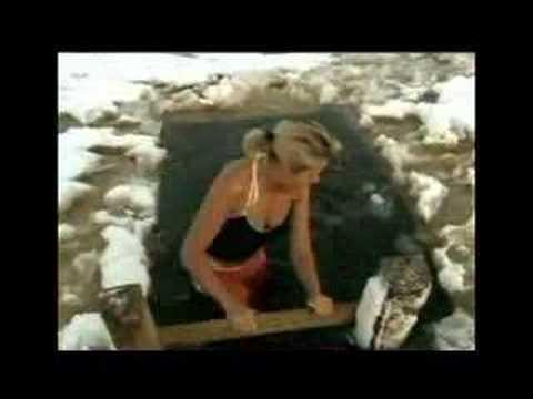 Ruth England. Ice hole swimming?