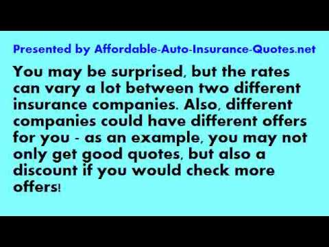 Affordable Auto Insurance - Tip #26