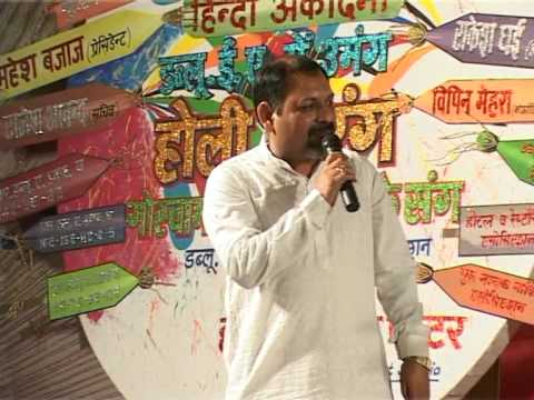 SANJAY JAIN anchoring in Hasya Kavi Sammelan by Hindi Academy...