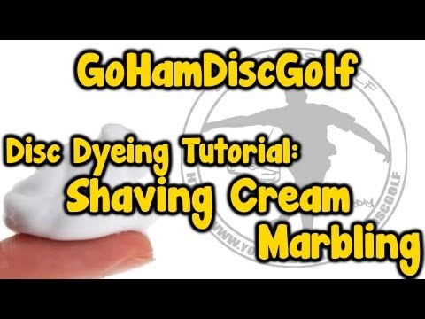 Disc Dyeing Tutorial: Shaving Cream Marbling