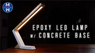 DIY concrete EPOXY LED lamp || how to make || woodworking