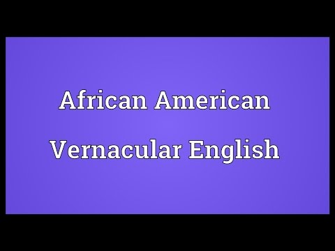 Header of African American Vernacular English