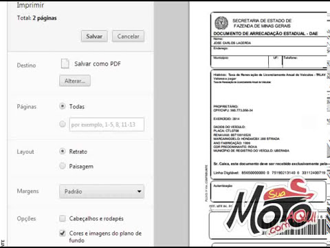 Como emitir as guias para pagar os documentos de 2014