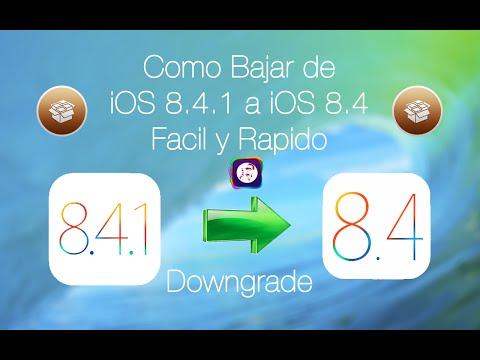 Como Bajar de iOS 8.4.1 a iOS 8.4 rapido y facil para poder hacer el Jailbreak