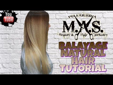 Mechas BALAYAGE Hair NATURAL, tipo californianas. Tutorial Como hacerlas paso a paso.