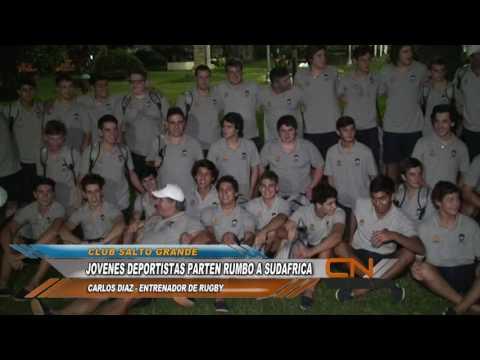 Plantel de rugby del Club Salto Grande Viajaron hacia Sudáfrica