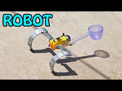 How to make a robot at home easy | Jumping Robot | Whatanidea