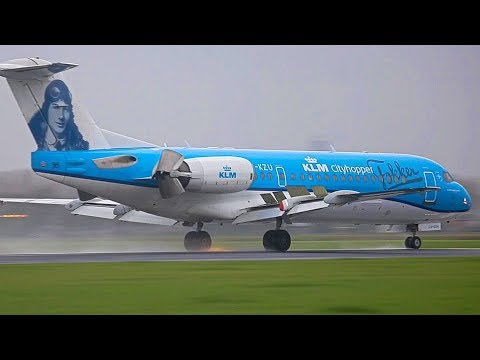 Thank You Fokker,  last ever KLM Fokker 70 landing @ Schiphol [inc. ATC]