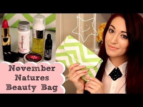 ♥ Natures Beauty Bag Review! November 2013 | Organic, Vegan & Cruelty Free! ♥
