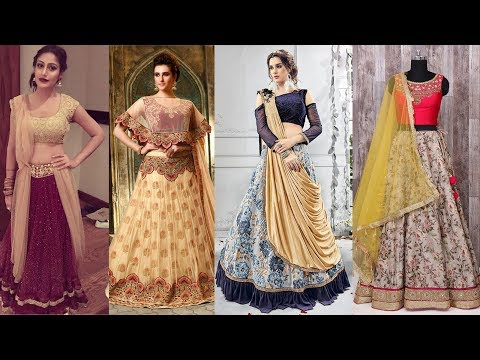 Latest Lehenga Choli Designer Models Designs for Women / Ladies / Girls 2018 | Party wear Dresses