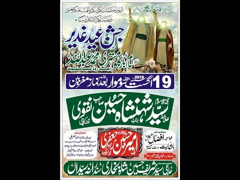 Live Jashan | 19 August 2019   | Imam Bargah Mistri Abdullah Raja Road sialkot
