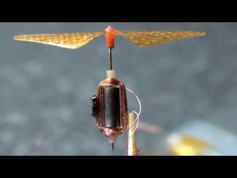 Homemade Brushless Micro motor weight 0.1g  thrust 0,5g  微型馬達 Music Videos