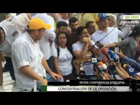 La Oposición llegó a la Conferencia Episcopal Venezolana en el Oeste de Caracas