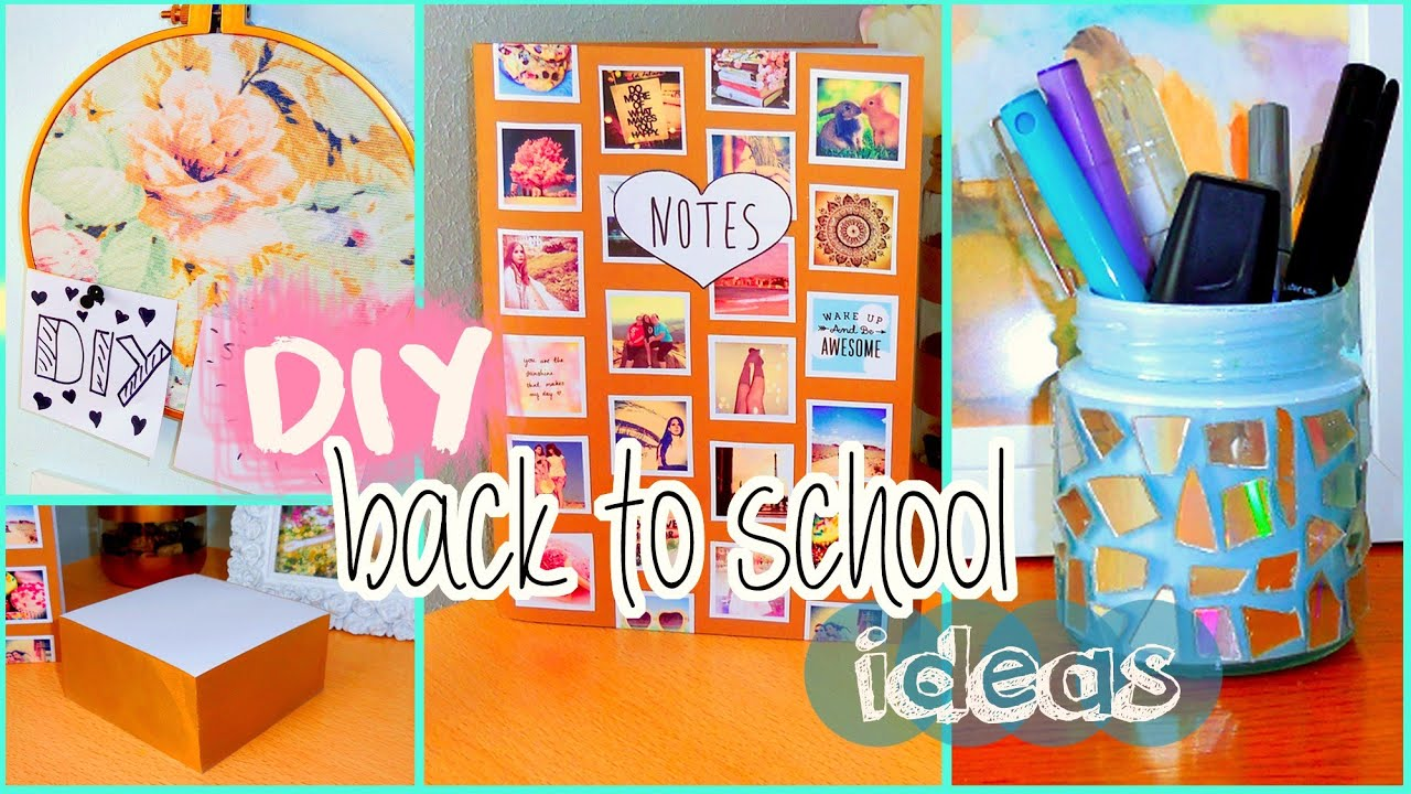 Diy back to school ideas diy organization tumblr for Back to school notebook decoration ideas