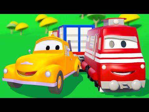 Поезд Трой и Эвакуатор Том в Автомобильный Город | Мультфильм для детей
