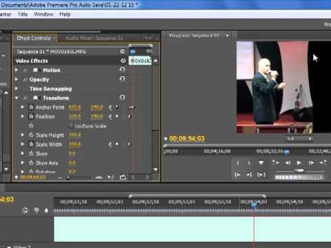 Adobe Premiere Pro CS5 Tutorial Efecto de Transicion Profesional #4 ...