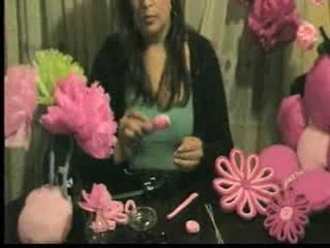 clase gratis de flores de papel crepe