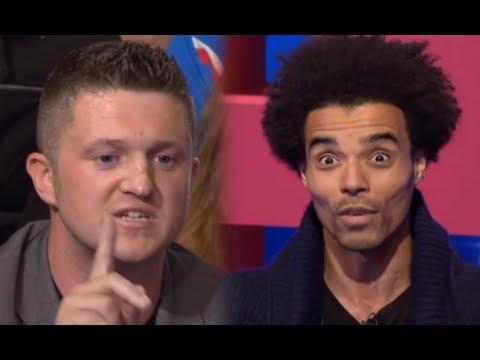 EDL leader Tommy Robinson takes on rapper Akala