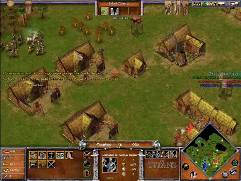Age of Mythology The Titans x Hamachi: Urano & Thor VS Odin & Hades - Parte 1/4