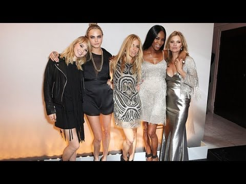 Kate Moss Celebrates Topshop With Cara Delevingne, Sienna Miller, and More!
