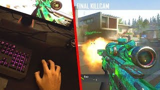 TRICKSHOTTING WITH MOUSE AND KEYBOARD ON BO2 (THIS IS SO HARD)
