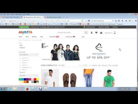 How to Get Online Coupons for Myntra - Couponrashtra