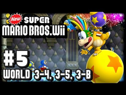 New Super Mario Bros Wii - Co-Op - Part 5 World 3-4, 3-5, 3-Boss