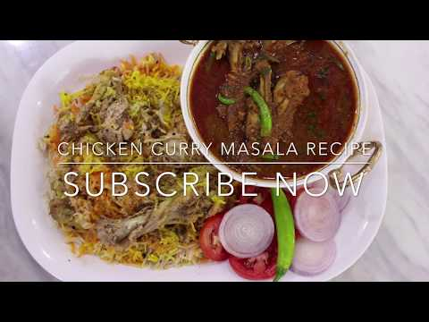 Chicken Curry Masala Recipe with Hyderabadi style chicken biryani  // Authentic CHICKEN CURRY