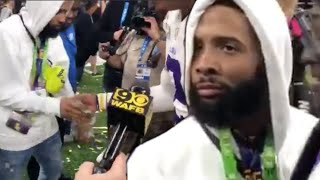 Odell Beckham Jr Hands Out Wads Of  CASH To LSU Players After National Championship Win