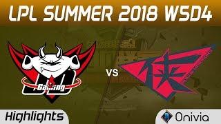 JDG vs RW Highlights Game 1 LPL Summer 2018 W5D4  JD Gaming vs Rouge Warriors by Onivia