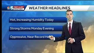Video: High heat, humidity and storms on Monday (6-17-18)