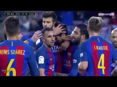 اهداف مباراة برشلونة واوساسونا 7-1 الدوري الاسباني (شاشة كاملة ) 26-04-2017-HD