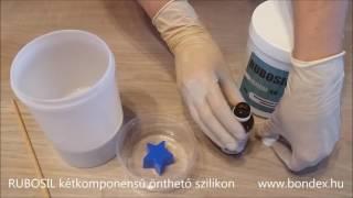 Kétkomponensű önthető szilikon szobrászati élelmiszeripari öntőforma gyertya és szappan készítéshez