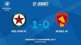 J13 : Red Star FC - Rodez Aveyron F. (1-0), le replay