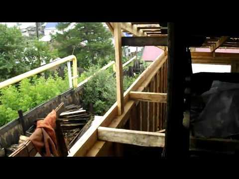 каркасный дом 5 часть Крыша