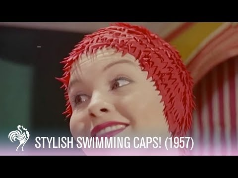 Thumbnail of video Swimming Cap Fashions (1950s)