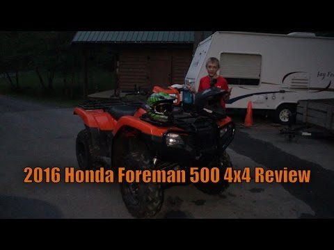 2016 Honda Foreman 500 4x4 Review + Night Ride!