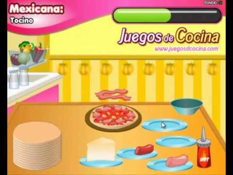 Juego de cocinar pizzas youtube - Cocina con sara paella ...