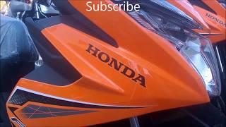 Orange Honda Beat Fi