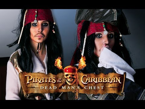 Jack Sparrow Make Up Tutorial [ Pirates of the Caribbean ] by Anastasiya Shpagina