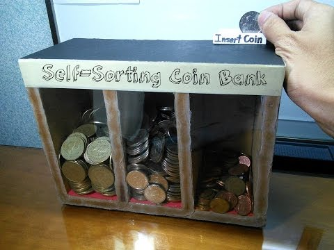 Homemade coin sorter videolike - Sorting coin bank ...