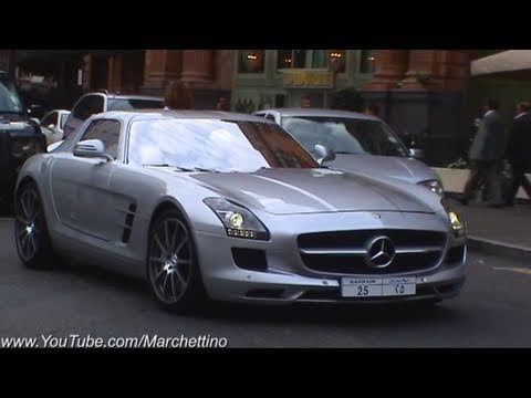 Mercedes SLS AMG Rev and Accelerate